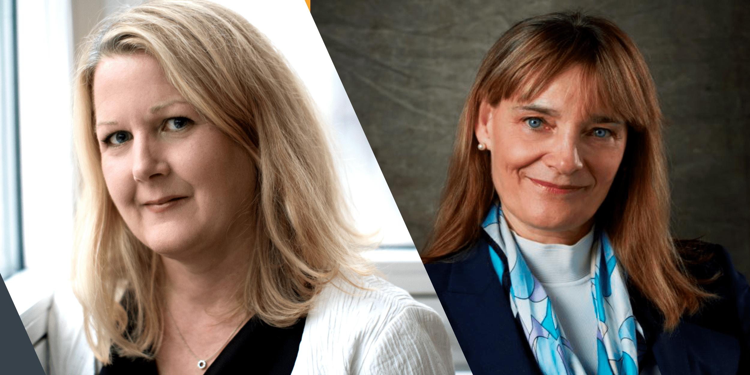 två porträttfoton sida vid sida med, till vänster, Therese Isaksson och, till höger, Patricia Shaughnessy